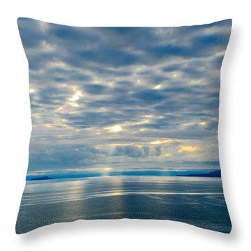 Inland Passage In Alaska Throw Pillow by Donald Fink
