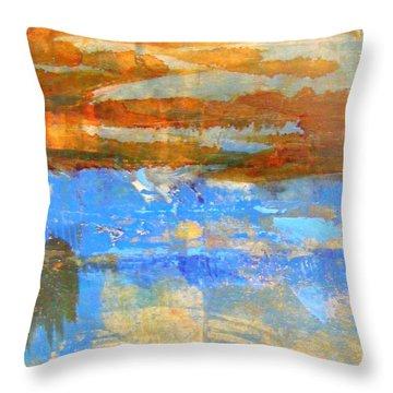 Inland Sea Throw Pillow by Nancy Kane Chapman