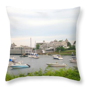 Throw Pillow featuring the photograph Inlet At Harwich Cape Cod Maine by Suzanne Powers