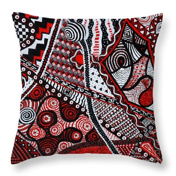 Inlets To Illusion  Throw Pillow by Vicki Maheu