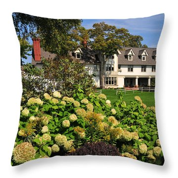 Inn At Stonecliffe On Mackinac Island Throw Pillow