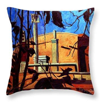 Inn Of The Anasazi Santa Fe Nm Throw Pillow by Charlie Spear