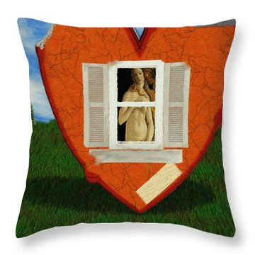 Inner Beauty Throw Pillow by Jeff Kolker
