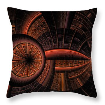 Throw Pillow featuring the digital art Inner Core by GJ Blackman