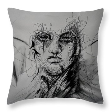 Inner Demons Throw Pillow by Christopher Kyle