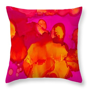 Throw Pillow featuring the painting Inner Earth by Angela Treat Lyon