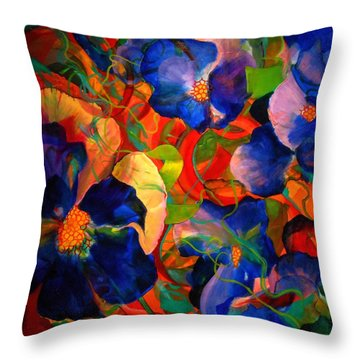 Throw Pillow featuring the painting Inner Fire by Georg Douglas
