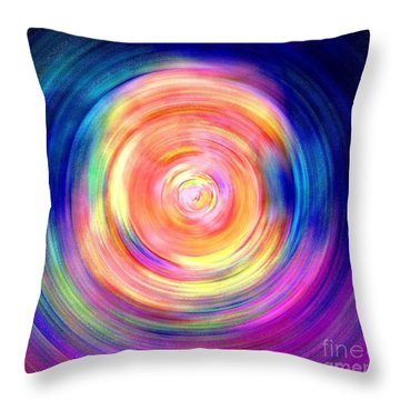 Throw Pillow featuring the digital art Inner Glow Abstract Art by Annie Zeno
