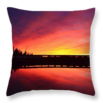 Inner Glow Sunset Throw Pillow