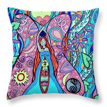 Inner Goddess Throw Pillow by Kim Larocque