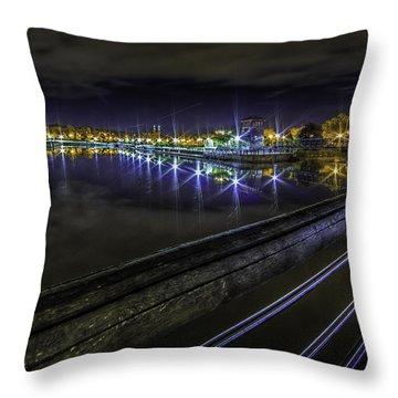 Inner Harbor Dreaming Throw Pillow