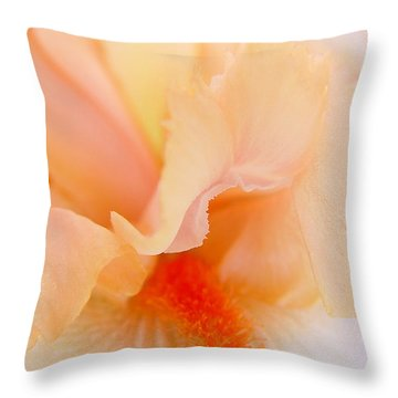 Inner Iris 1 Of 4 Throw Pillow by Jana Russon