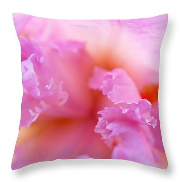Throw Pillow featuring the photograph Inner Iris-2of4 by Jana Russon