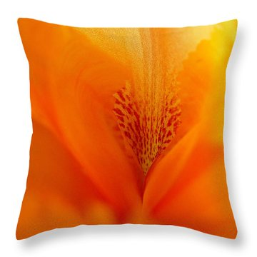 Throw Pillow featuring the photograph Inner Iris 3 Of 4 by Jana Russon