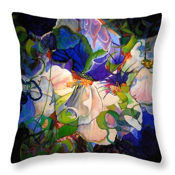 Throw Pillow featuring the painting Inner Light by Georg Douglas