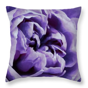 Lavender Motive Throw Pillow by Jean OKeeffe Macro Abundance Art