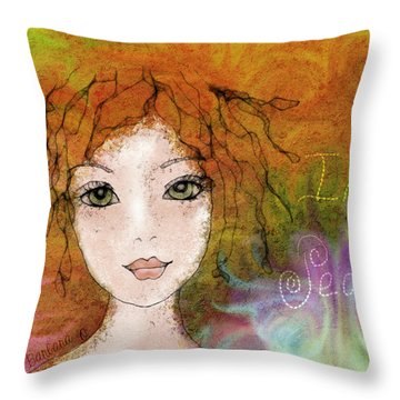 Throw Pillow featuring the digital art Inner Peace by Barbara Orenya