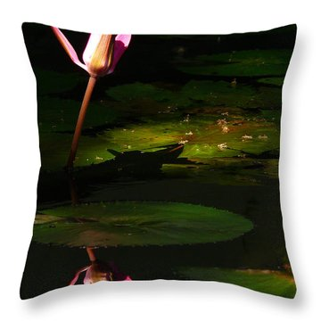 Throw Pillow featuring the photograph Inner Peace by Evelyn Tambour