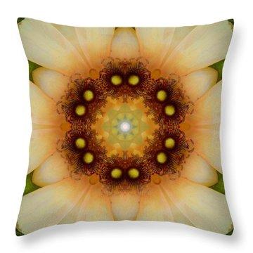 Inner Petal Flower Mandala Throw Pillow