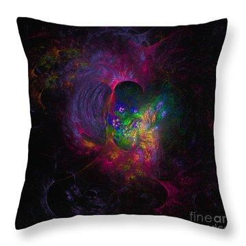 Throw Pillow featuring the digital art Inner Psyche by Arlene Sundby