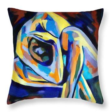 Inner Reality Throw Pillow by Helena Wierzbicki