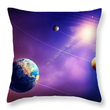Inner Solar System Planets Throw Pillow