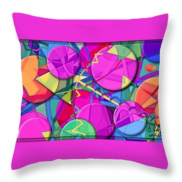Inner Space Throw Pillow by Gerry Robins