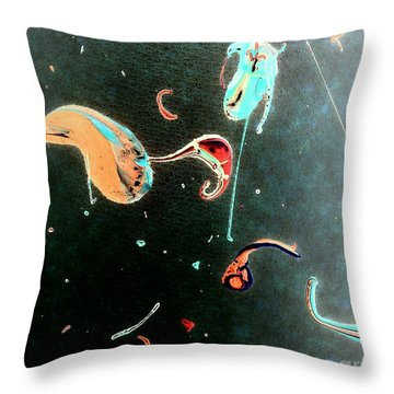 Throw Pillow featuring the painting Inner Space by Jacqueline McReynolds