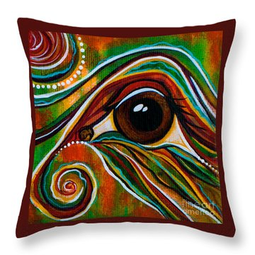 Throw Pillow featuring the painting Inner Strength Spirit Eye by Deborha Kerr