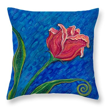 Inner Strength Throw Pillow by Tanielle Childers