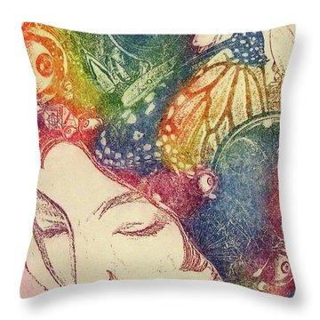 Inner Thoughts Throw Pillow by Juliann Sweet