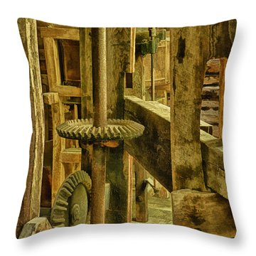 Inner Workings Of Mingus Mill Throw Pillow