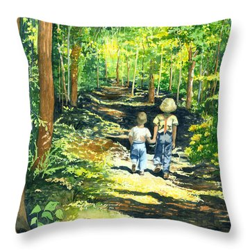 Innocence And Promise Throw Pillow
