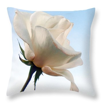 Throw Pillow featuring the photograph Innocence by Deb Halloran