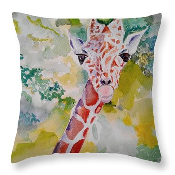 Innocence Throw Pillow by Geeta Biswas