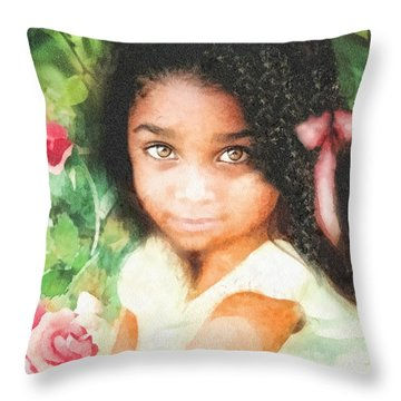 Innocence Throw Pillow by Mo T