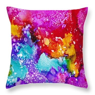 Throw Pillow featuring the painting Innocent by Angela Treat Lyon