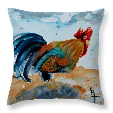 Innocent Rooster Throw Pillow by Beverley Harper Tinsley