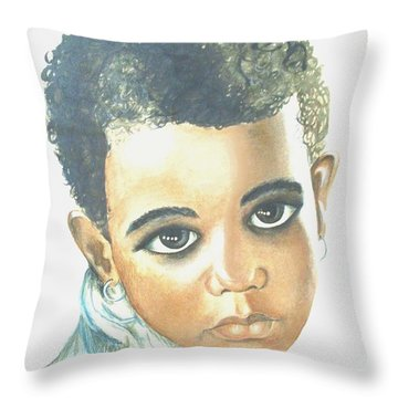 Throw Pillow featuring the painting Innocent Sorrow by Sophia Schmierer