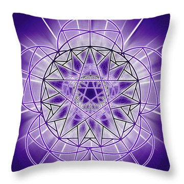 In'phi'nity Star-map Throw Pillow by Derek Gedney