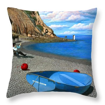 Inquiries Throw Pillow by Snake Jagger