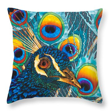 Insane Peacock Throw Pillow