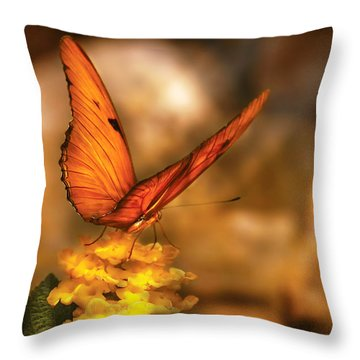 Insect - Butterfly - Just A Bit Of Orange  Throw Pillow
