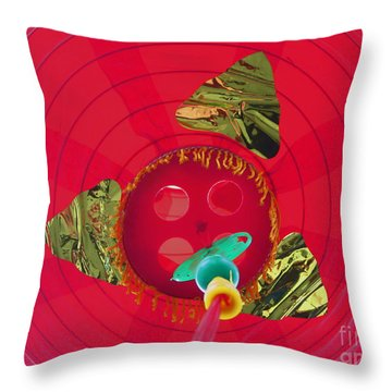 Inside A Red Chinese Lantern Throw Pillow by Kym Backland
