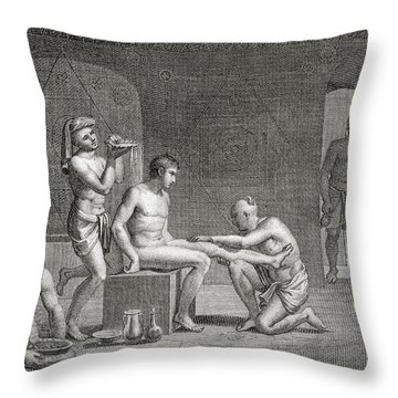 Inside An Egyptian Bathhouse, C.1820s Throw Pillow by Dominique Vivant Denon