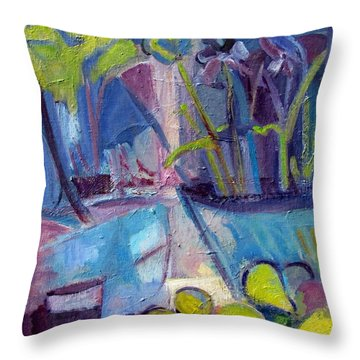 Inside And Outside Abstract Expressionism Throw Pillow