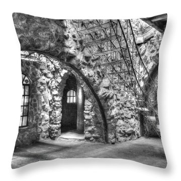 Throw Pillow featuring the photograph Inside Bishop Castle by Diane Alexander