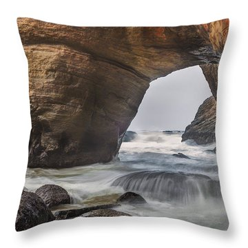 Inside Devils Punch Bowl Throw Pillow by Jacqui Boonstra