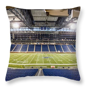Inside Ford Field Throw Pillow