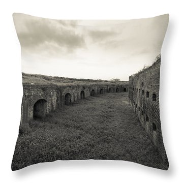 Inside Fort Macomb Throw Pillow by David Morefield